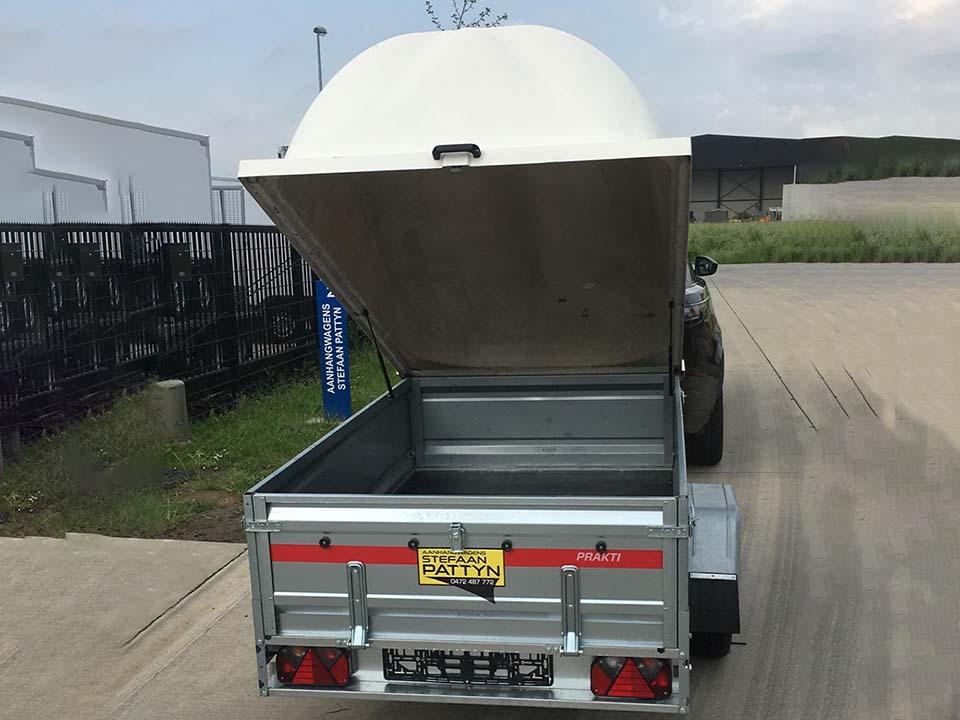Bagagewagen met polyester deksel